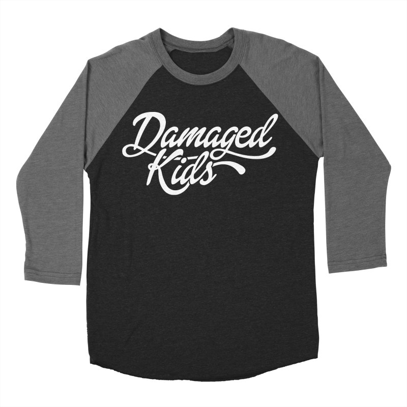 Original Damaged Kids Logo - White Women's Baseball Triblend Longsleeve T-Shirt by LaurenVersino's Artist Shop