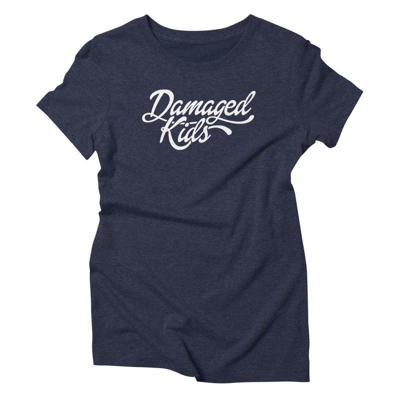 Original Damaged Kids Logo - White Women's Triblend T-Shirt by LaurenVersino's Artist Shop