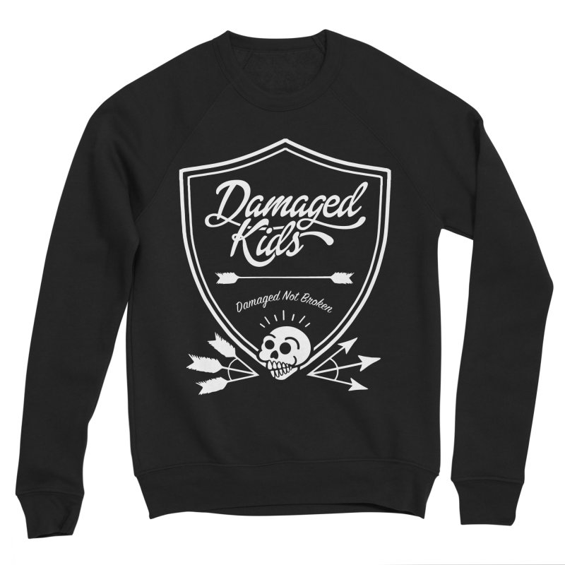 DK Shield Design - White Men's Sponge Fleece Sweatshirt by LaurenVersino's Artist Shop