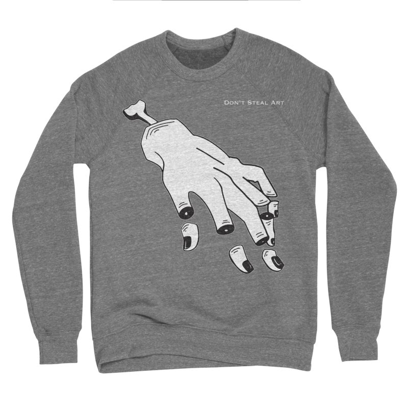 Don't Steal Art - Punishable Design Men's Sponge Fleece Sweatshirt by LaurenVersino's Artist Shop