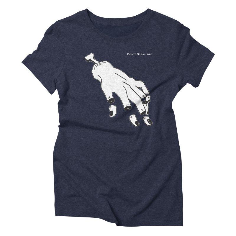 Don't Steal Art - Punishable Design Women's Triblend T-Shirt by LaurenVersino's Artist Shop