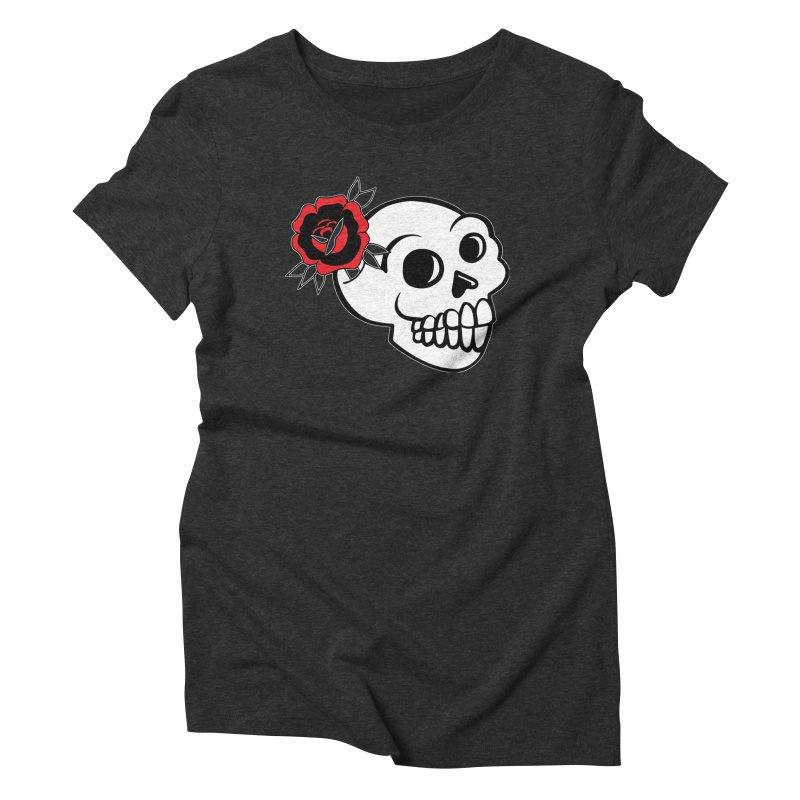 Stoked Skull Re-Grown Women's Triblend T-Shirt by LaurenVersino's Artist Shop