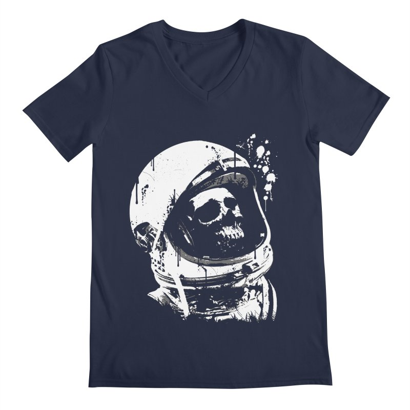 Cosmonaut in Men's Regular V-Neck Navy by LazerBrain's Artist Shop
