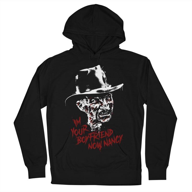 Freddy in Men's French Terry Pullover Hoody Black by LazerBrain's Artist Shop