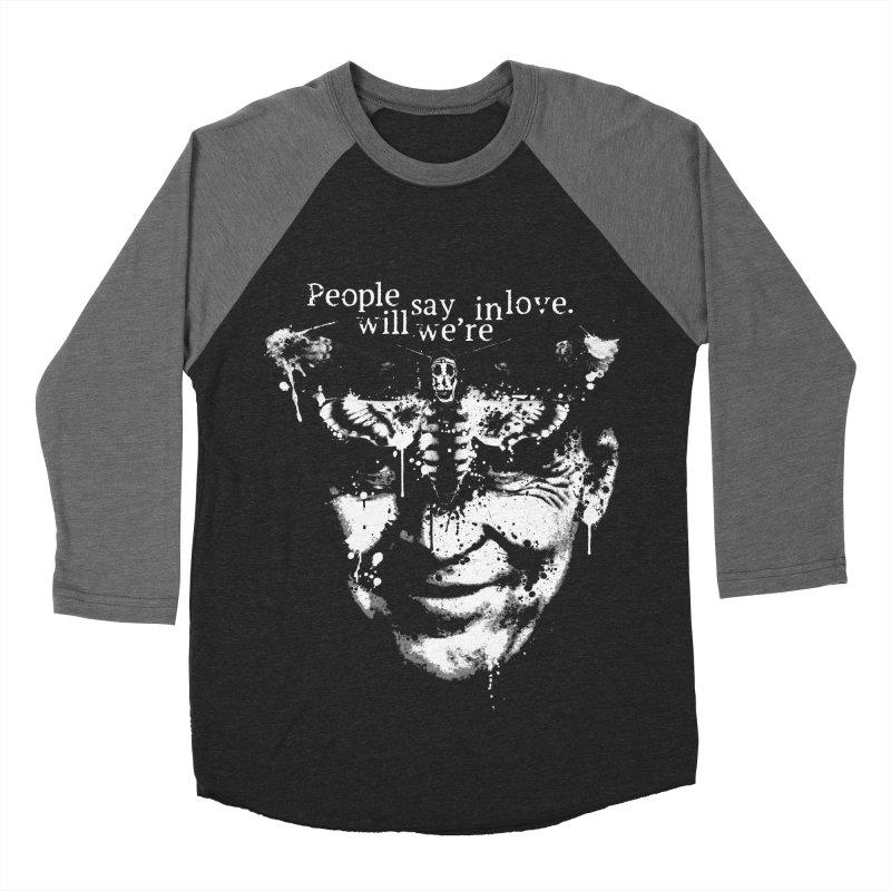 Hannibal in Men's Baseball Triblend Longsleeve T-Shirt Grey Triblend Sleeves by LazerBrain's Artist Shop