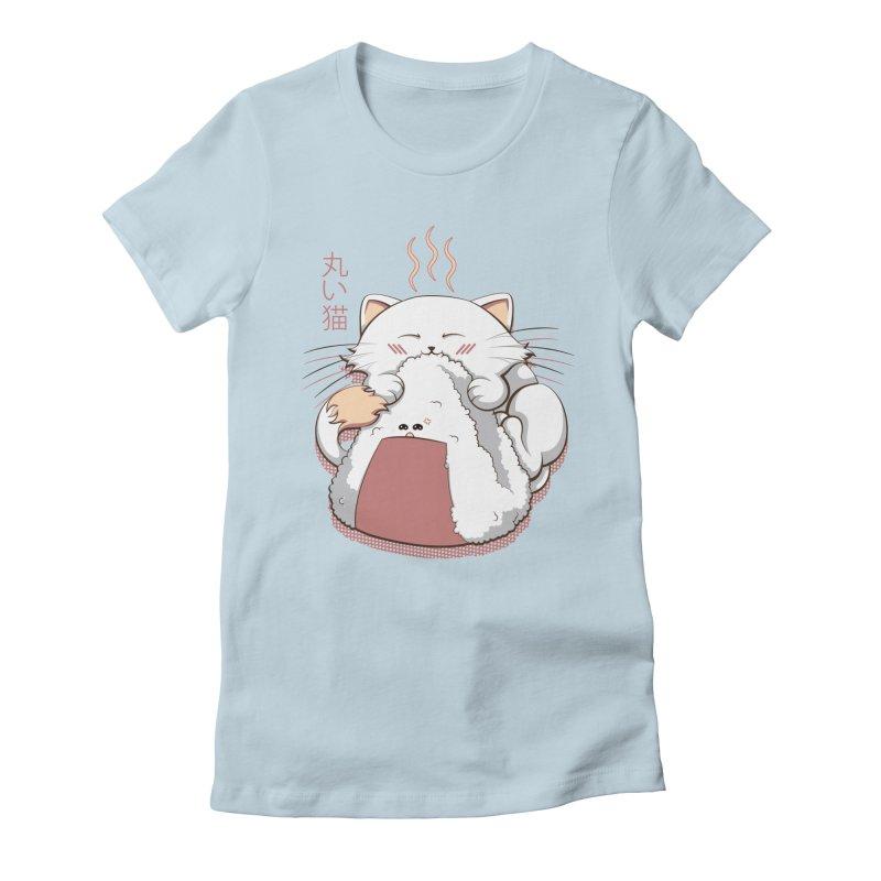 Marui & Onigiri in Women's Fitted T-Shirt Baby Blue by LazerBrain's Artist Shop