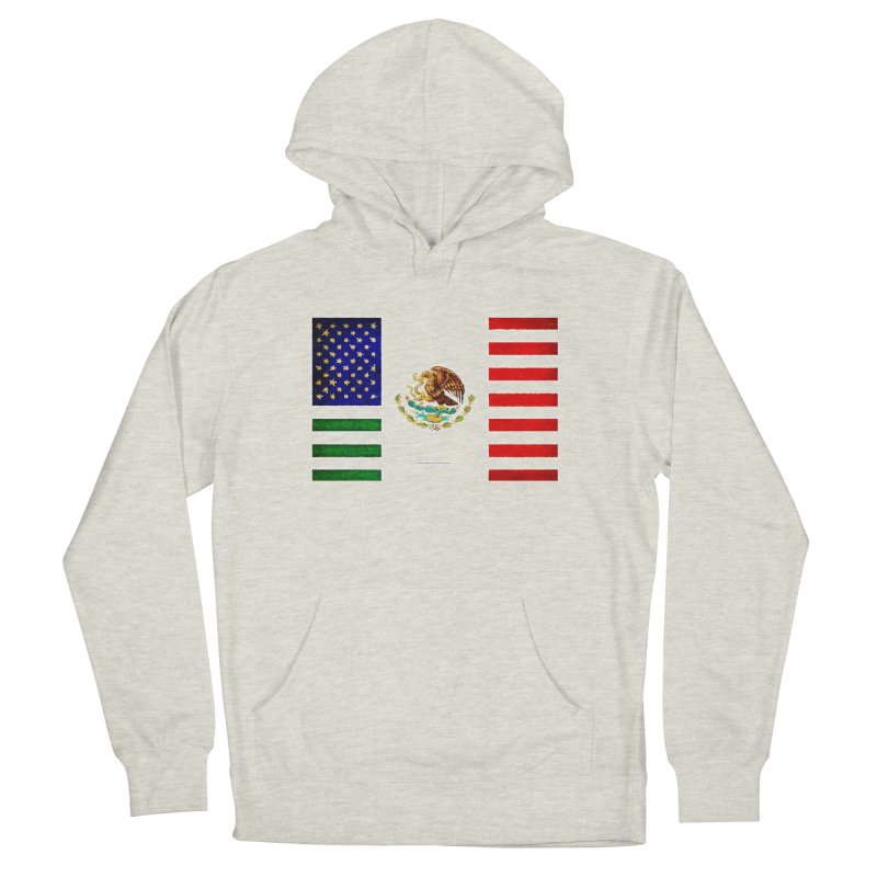 MEXICAN AMERICAN FLAG Men's Pullover Hoody by LazyBonesStudios's Artist Shop