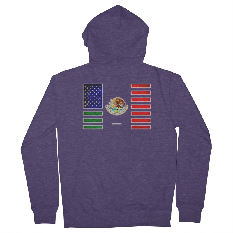 MEXICAN AMERICAN FLAG Men's Zip-Up Hoody by LazyBonesStudios's Artist Shop