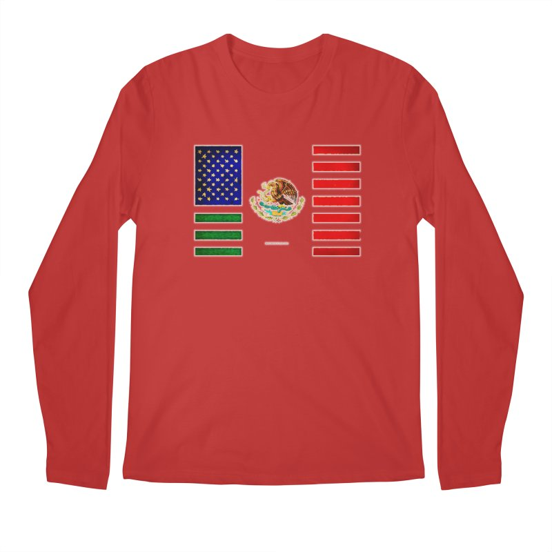 MEXICAN AMERICAN FLAG Men's Longsleeve T-Shirt by LazyBonesStudios's Artist Shop