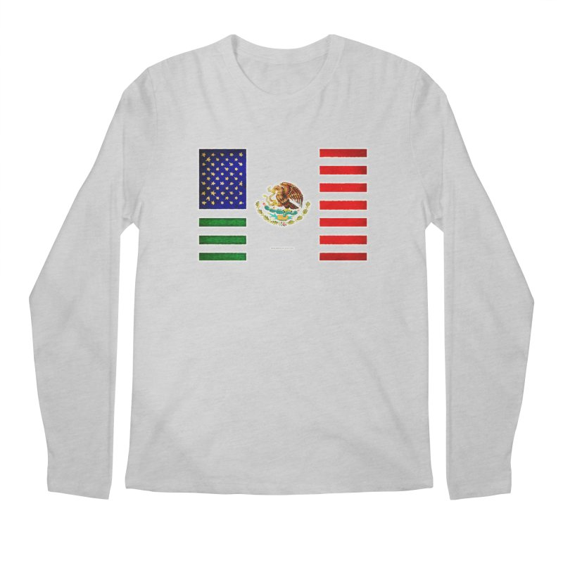 MEXICAN AMERICAN FLAG Men's Longsleeve T-Shirt by LazyBonesStudios's Artist Shop