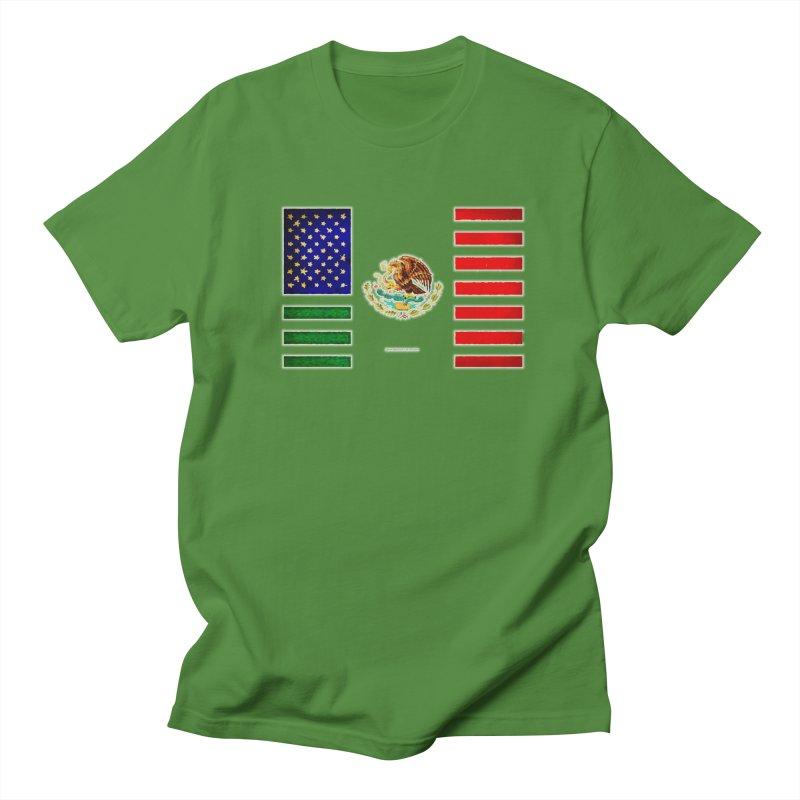 MEXICAN AMERICAN FLAG Men's T-shirt by LazyBonesStudios's Artist Shop
