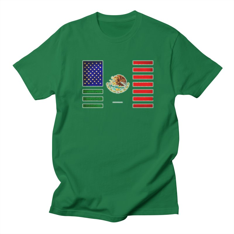 MEXICAN AMERICAN FLAG Men's T-Shirt by LazyBonesStudios's Artist Shop