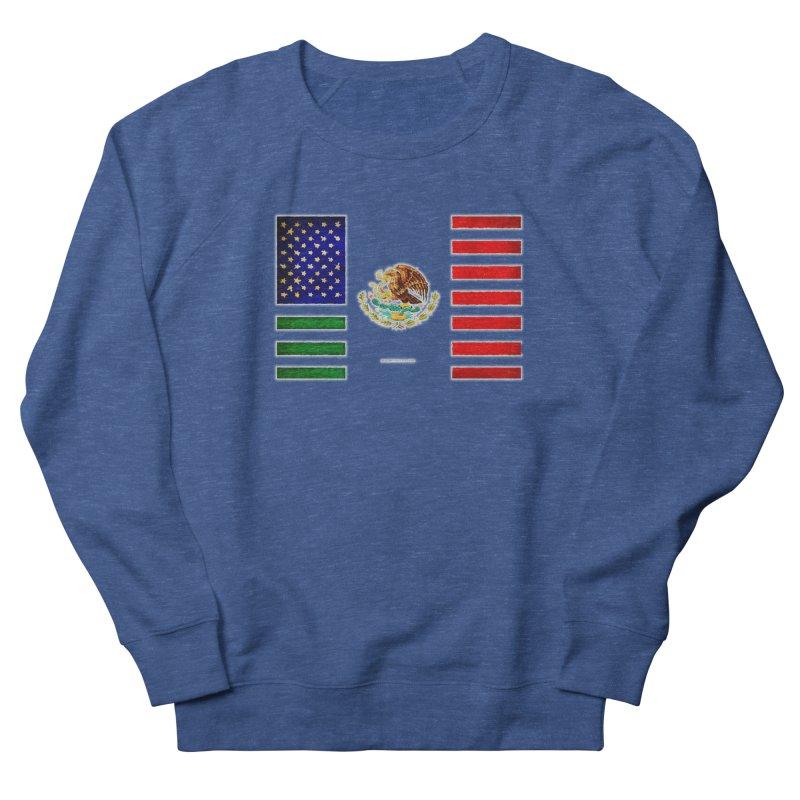 MEXICAN AMERICAN FLAG Men's Sweatshirt by LazyBonesStudios's Artist Shop