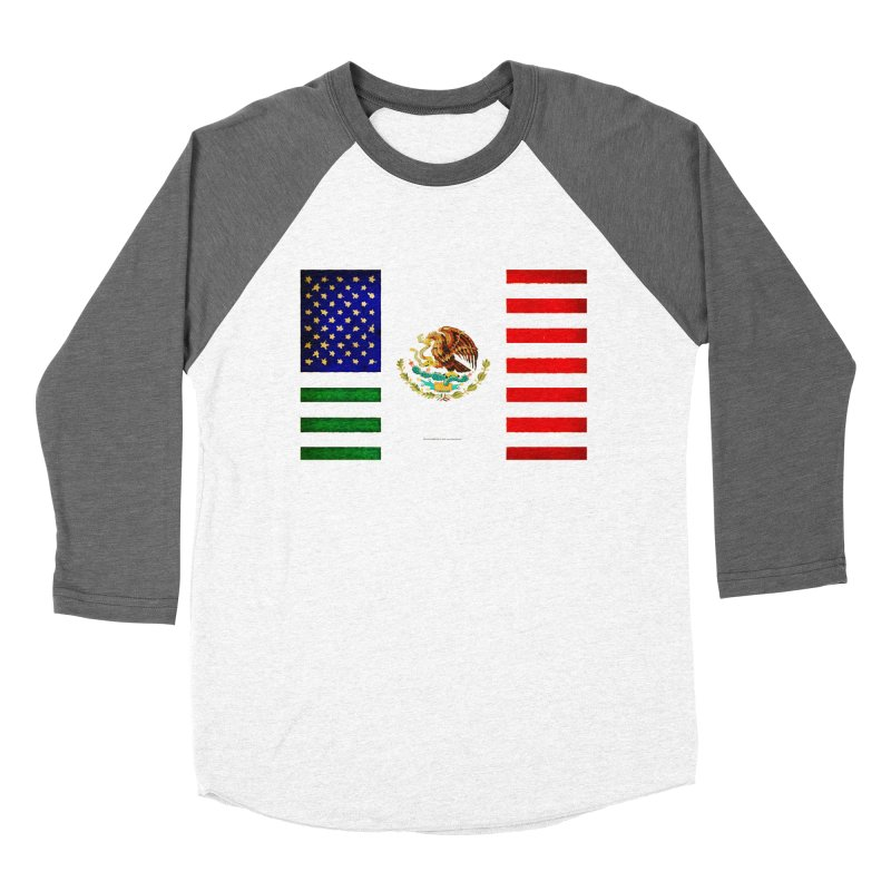 MEXICAN AMERICAN FLAG Women's Baseball Triblend T-Shirt by LazyBonesStudios's Artist Shop