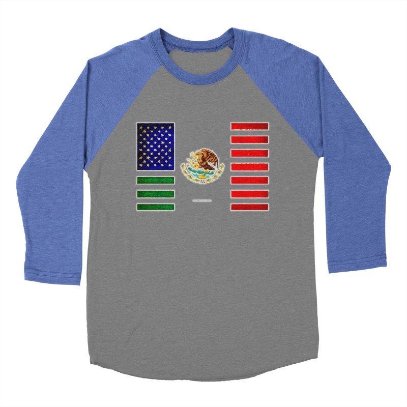 MEXICAN AMERICAN FLAG Women's Baseball Triblend T-Shirt by LazyBonesStudios's Artist Shop