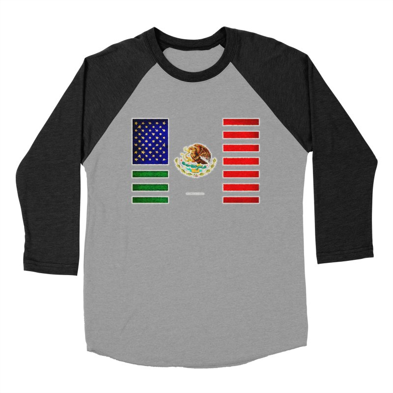 MEXICAN AMERICAN FLAG Men's Baseball Triblend T-Shirt by LazyBonesStudios's Artist Shop