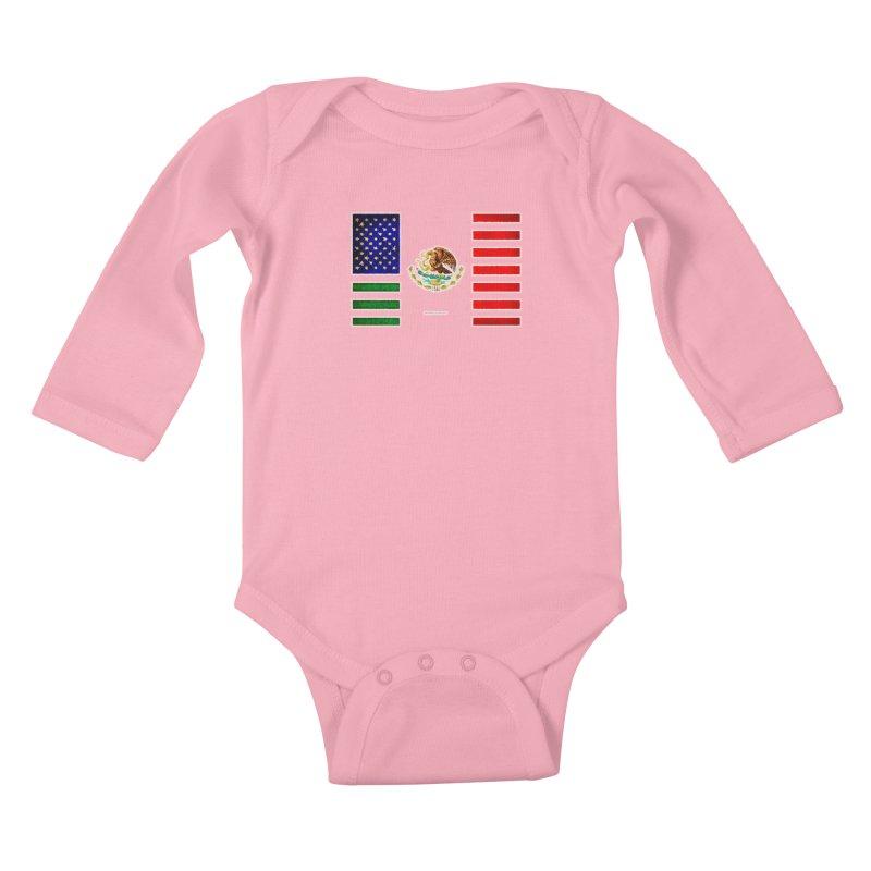 MEXICAN AMERICAN FLAG Kids Baby Longsleeve Bodysuit by LazyBonesStudios's Artist Shop