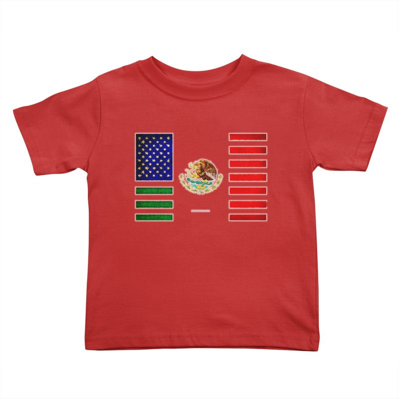 MEXICAN AMERICAN FLAG Kids Toddler T-Shirt by LazyBonesStudios's Artist Shop