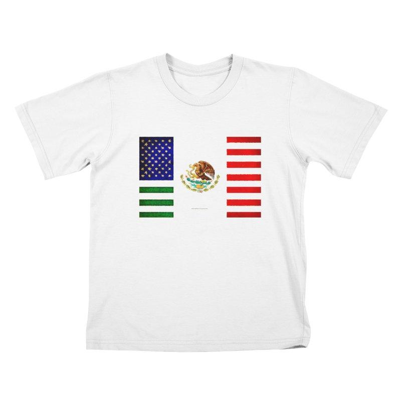 MEXICAN AMERICAN FLAG Kids T-shirt by LazyBonesStudios's Artist Shop