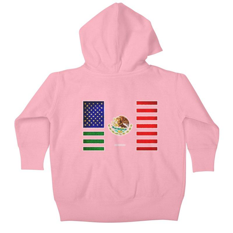 MEXICAN AMERICAN FLAG Kids Baby Zip-Up Hoody by LazyBonesStudios's Artist Shop
