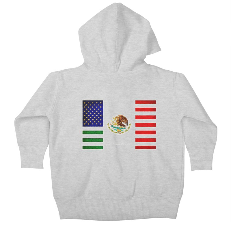 MEXICAN AMERICAN FLAG Kids Baby Zip-Up Hoody by LazyBonesStudios's Artist Shop