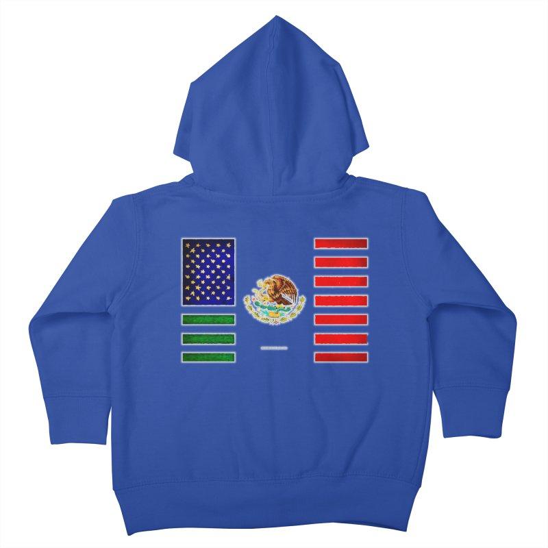 MEXICAN AMERICAN FLAG Kids Toddler Zip-Up Hoody by LazyBonesStudios's Artist Shop