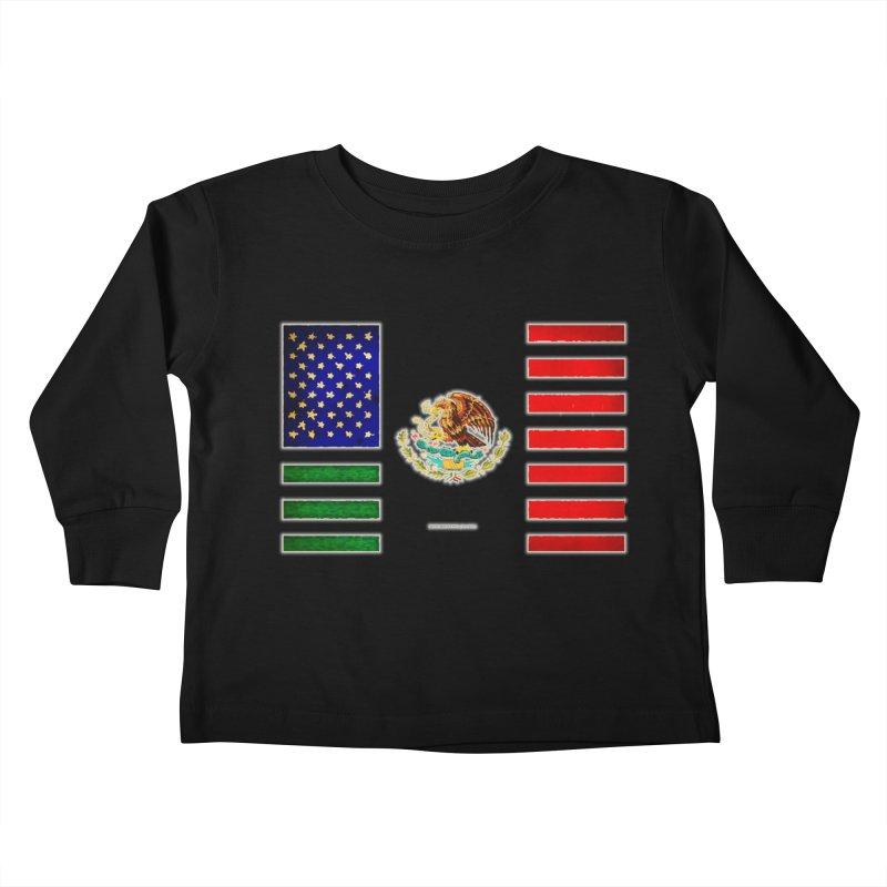 MEXICAN AMERICAN FLAG Kids Toddler Longsleeve T-Shirt by LazyBonesStudios's Artist Shop