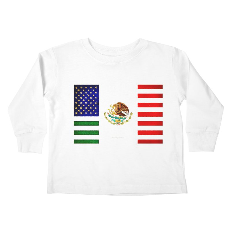MEXICAN AMERICAN FLAG Kids Toddler Longsleeve T-Shirt by LazyBonesStudios's Artist Shop