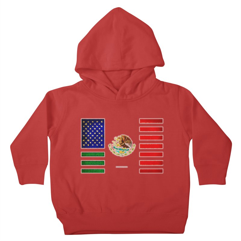 MEXICAN AMERICAN FLAG Kids Toddler Pullover Hoody by LazyBonesStudios's Artist Shop