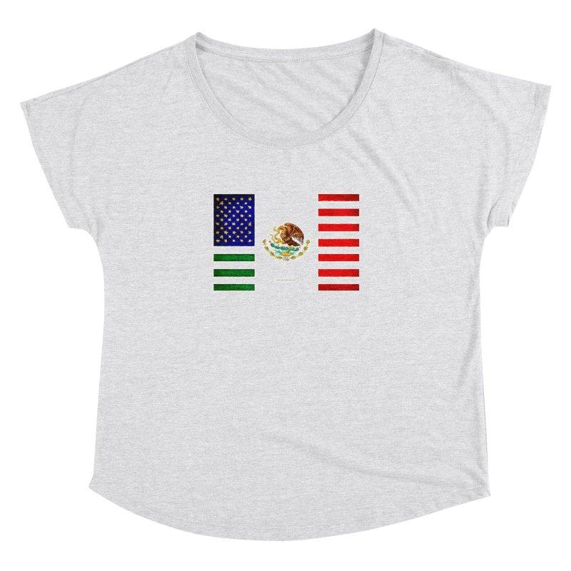 MEXICAN AMERICAN FLAG Women's Dolman by LazyBonesStudios's Artist Shop
