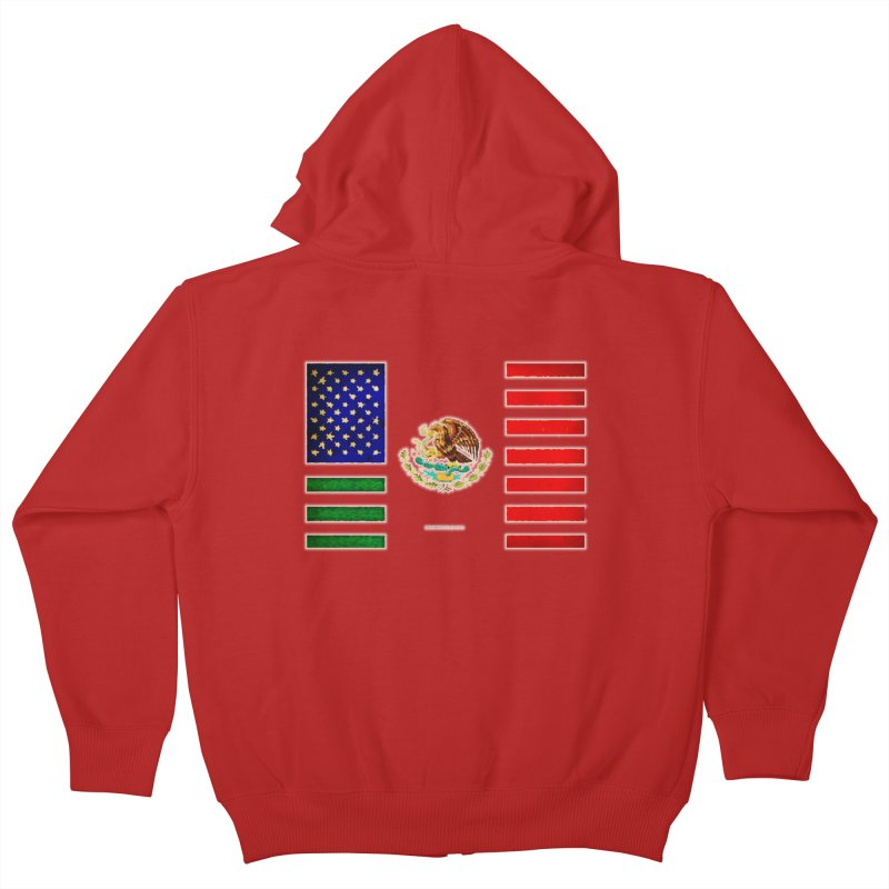 MEXICAN AMERICAN FLAG Kids Zip-Up Hoody by LazyBonesStudios's Artist Shop