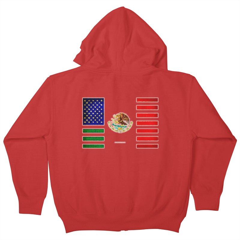 MEXICAN AMERICAN FLAG Kids Zip-Up Hoody by LazyBonesStudios's Artist Shop