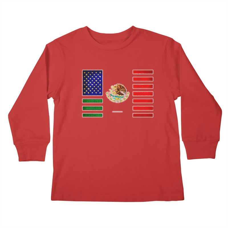 MEXICAN AMERICAN FLAG Kids Longsleeve T-Shirt by LazyBonesStudios's Artist Shop
