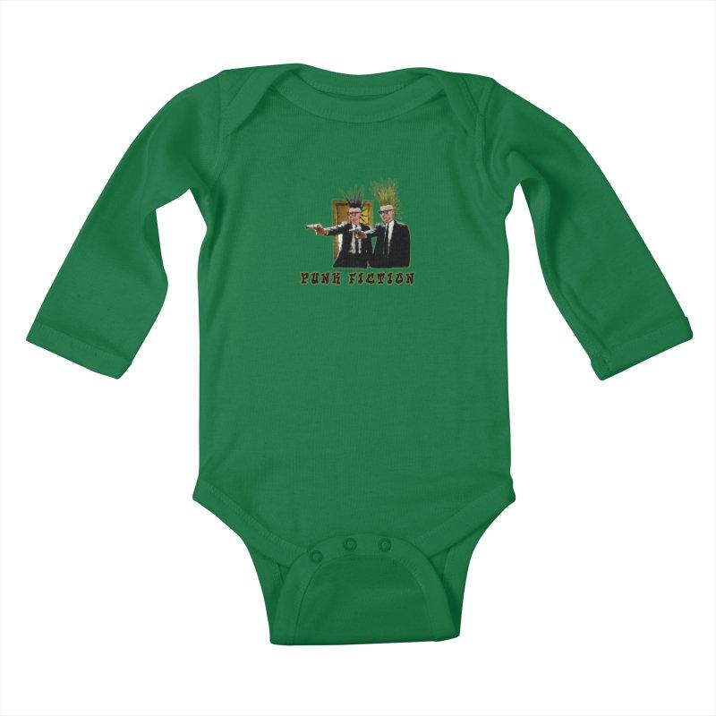 PUNK FICTION Kids Baby Longsleeve Bodysuit by LazyBonesStudios's Artist Shop