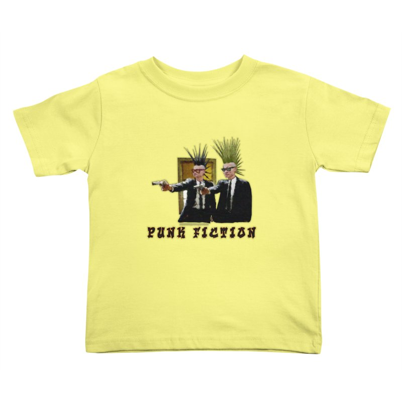 PUNK FICTION Kids Toddler T-Shirt by LazyBonesStudios's Artist Shop