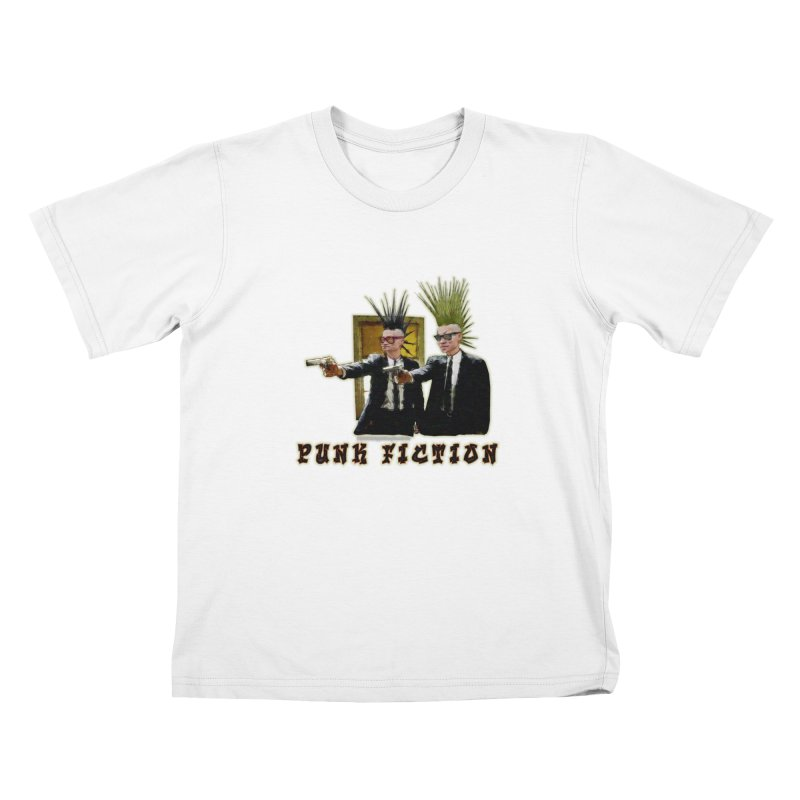 PUNK FICTION Kids T-shirt by LazyBonesStudios's Artist Shop
