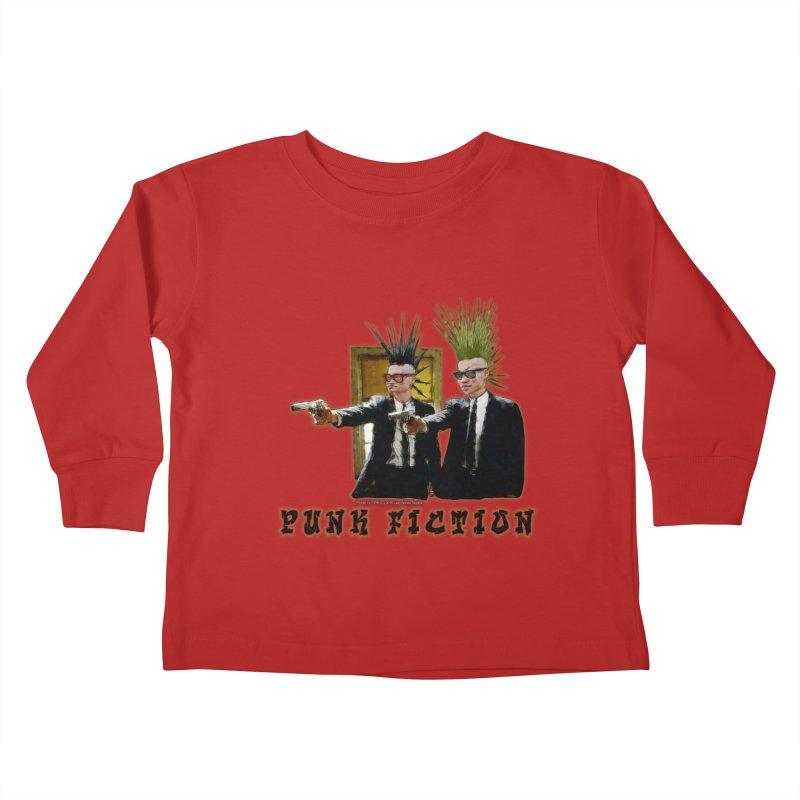 PUNK FICTION Kids Toddler Longsleeve T-Shirt by LazyBonesStudios's Artist Shop