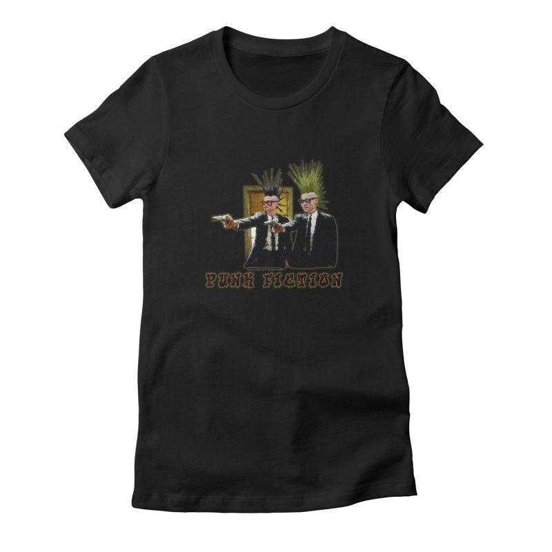 PUNK FICTION Women's Fitted T-Shirt by LazyBonesStudios's Artist Shop