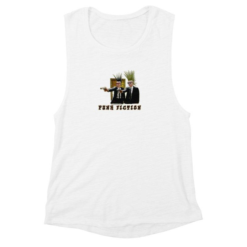 PUNK FICTION Women's Muscle Tank by LazyBonesStudios's Artist Shop