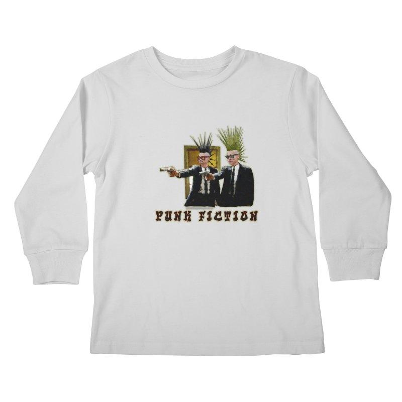 PUNK FICTION Kids Longsleeve T-Shirt by LazyBonesStudios's Artist Shop