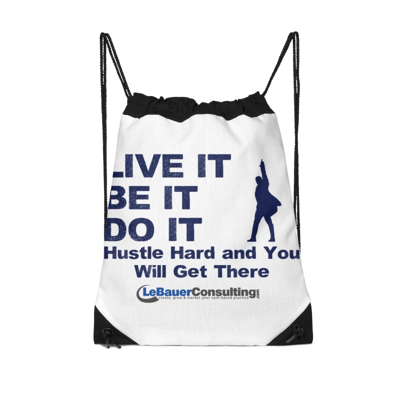Hustle Hard Light Accessories Drawstring Bag Bag by Aaron LeBauer's Shop