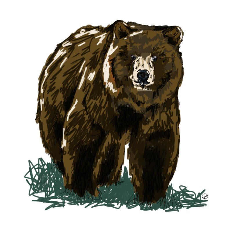 Grizzly by LeahOwen's Artist Shop