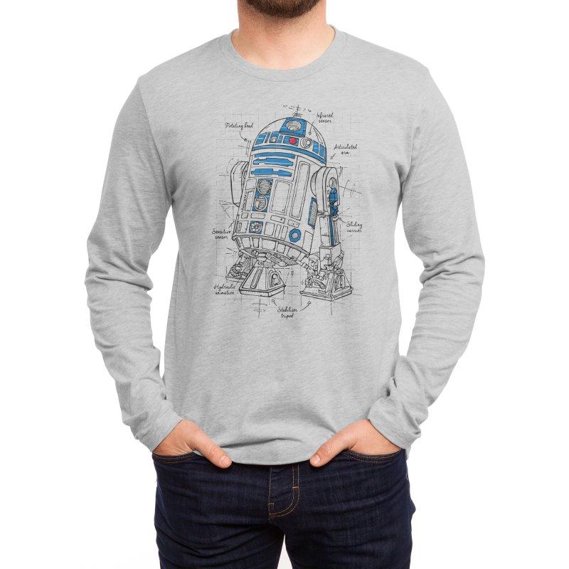 Droide blue Men's Longsleeve T-Shirt by LeDuc