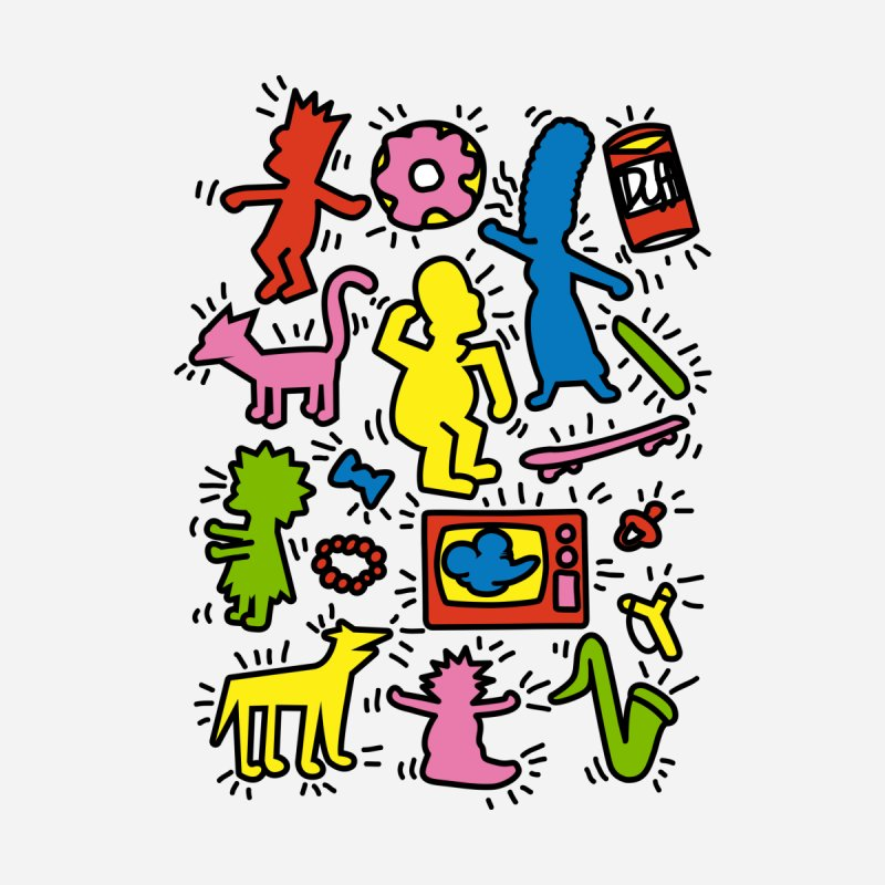 Haring Simpsons Accessories Beach Towel by LeDuc