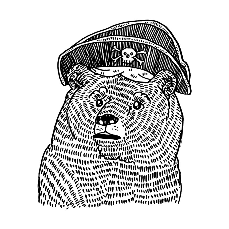 Pirate Bear Accessories Sticker by Legendderry's Artist Shop