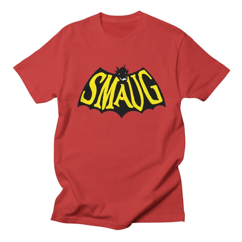 Smaug in Men's T-Shirt Red by Legojeff's Shop
