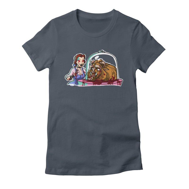 Hells Belle Women's Fitted T-Shirt by Len Hernandez's Artist Shop