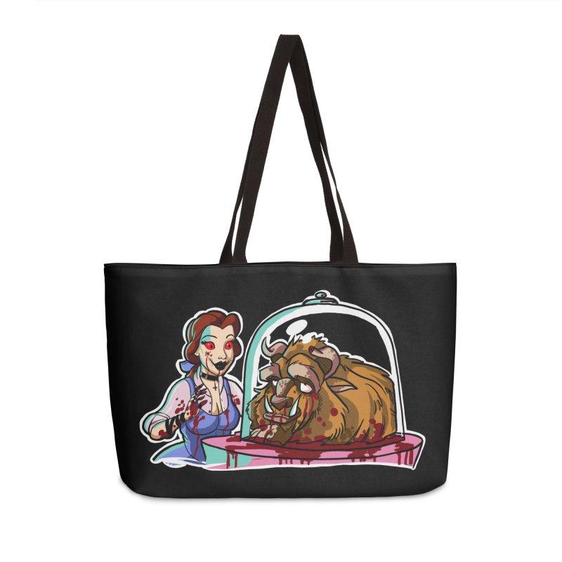 Hells Belle Accessories Weekender Bag Bag by Len Hernandez's Artist Shop