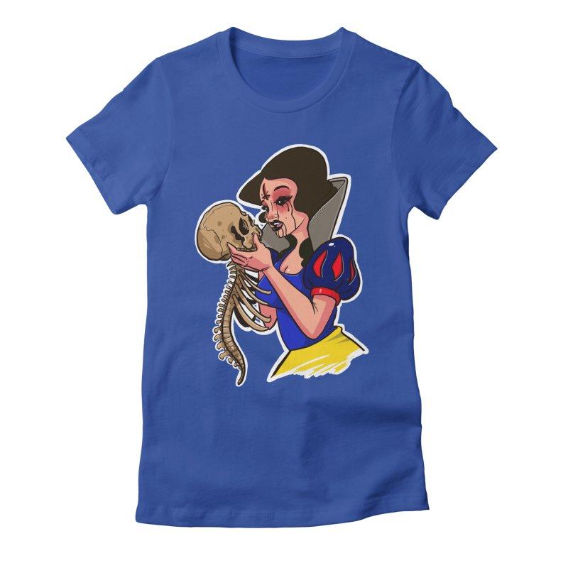 Devil's Snow Women's Fitted T-Shirt by Len Hernandez's Artist Shop