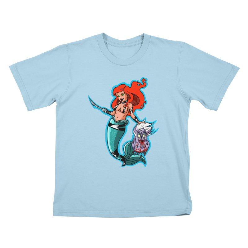 Sea Sinner Kids T-Shirt by Len Hernandez's Artist Shop